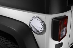 Tappo carburante cromato con logo Jeep