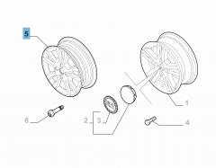 Cerchio in lega 5.5J x 15'' H2 ET 32 per Fiat e Fiat Professional