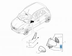 Indicatore di direzione laterale per Fiat Sedici