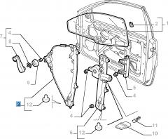Alzacristallo anteriore destro per Fiat e Fiat Professional