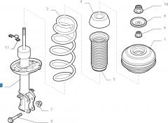 Ammortizzatore destro per Fiat e Fiat Professional