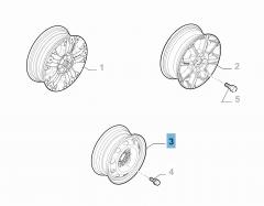 Cerchio in acciaio da 5.5B x 14'' H2 ET 40 per Fiat Professional Strada