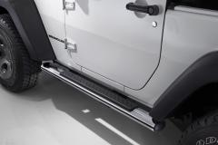 Predellini cromati pedane laterali sottoporta per Jeep Wrangler