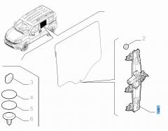 Alzacristallo elettrico posteriore sinistro per Fiat e Fiat Professional