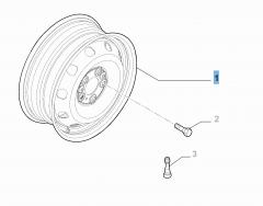 Cerchio in acciaio da 6J x 16'' ET 68 per Fiat e Fiat Professional