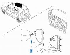 Alzacristallo manuale anteriore destro per Fiat e Fiat Professional