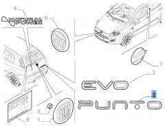 Sigla modello Punto posteriore per Fiat Punto Evo