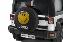 Copri ruota di scorta con immagine smile