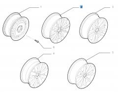 Cerchio in lega 6.5J x 16'' per Fiat Croma