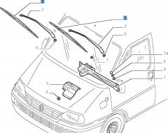 Kit 2 spazzole tergicristalli anteriori per Ducato