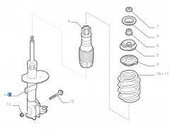 Ammortizzatore anteriore destro per Fiat e Fiat Professional