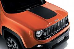 Adesivo per cofano in nero opaco per Jeep Renegade