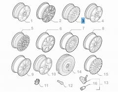 Cerchio in lega 7.5J x 17'' H2 ET 41 per Alfa Romeo