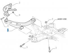 Braccio oscillante destro per sospensione anteriore per Fiat e Fiat Professional