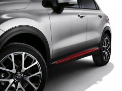 Finiture laterali rosse per portiere per Fiat 500X