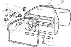 Ossatura porta laterale destra per Fiat Coupé (1994-1996)
