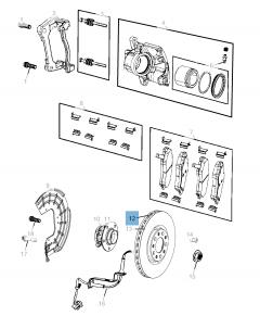 Disco freno anteriore per Compass LHD 2019-2020-2021