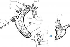 Braccio oscillante destro per Fiat Professional Strada