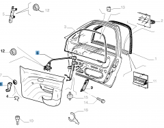 Alzacristallo manuale anteriore sinistro per Fiat e Fiat Professional