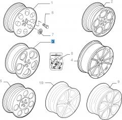 Cerchio in lega 6J x 16'' per Alfa Romeo