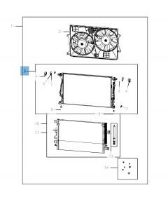 Radiatore per raffreddamento motore per Jeep Cherokee