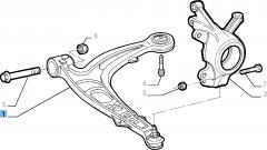 Braccio oscillante sinistro per sospensione anteriore