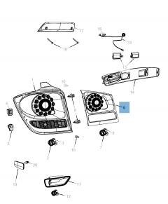Fanale posteriore (posizione, stop e retromarcia) per Fiat Freemont