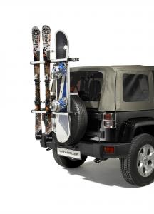 Portasci e snowboard per su ruota di scorta