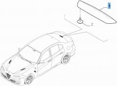Fanale posteriore terzo stop per Alfa Romeo Giulia