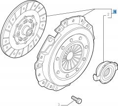Kit frizione (disco, spingidisco e cuscinetto reggispinta) per Alfa Romeo