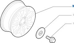 Cerchio in lega 6J x 14'' H2 ET 35 per Fiat e Fiat Professional