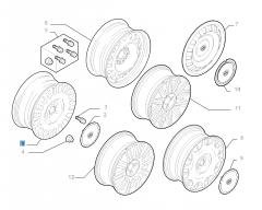Cerchio in lega 7J x 16'' per Lancia Phedra
