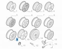 Cerchio in lega 8J x 19'' per Alfa Romeo