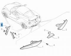 Indicatore di direzione anteriore laterale destro per Alfa Romeo 4C