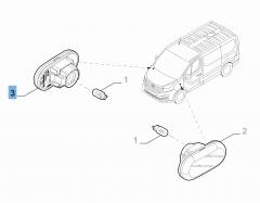 Indicatore di direzione laterale per Fiat Professional Talento