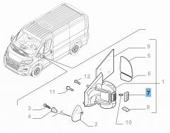 Indicatore di direzione laterale su specchietto destro per Fiat e Fiat Professional