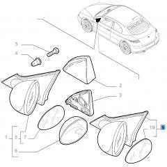 Specchietto retrovisore esterno destro per Alfa Romeo GT