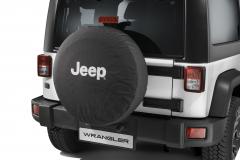 Copri ruota di scorta con logo Jeep bianco