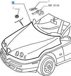 Cofano per Alfa Romeo GTV e Spider