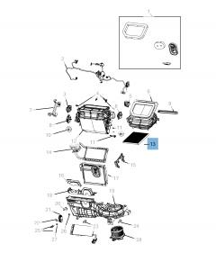 Filtro aria abitacolo particellare per Gladiator,Wrangler