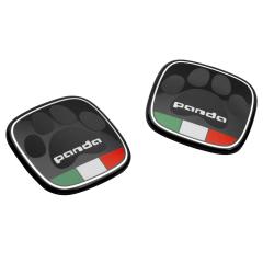 Badge Panda Con Bandiera Italiana