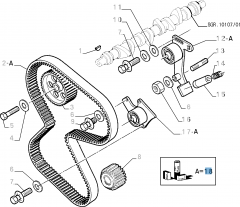 Kit Distribuzione (cinghia, tendicighia fisso e regolabile) - 3 pz per Fiat e Fiat Professional