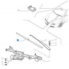 Kit 2 spazzole tergicristalli anteriori per Brera/Spider