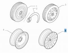 Cerchio in acciaio 7J x 16''