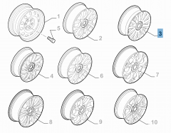 Cerchio in lega 6.5J x 16'' ET 39 per Fiat e Fiat Professional