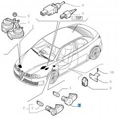 Indicatore di direzione laterale per Alfa Romeo