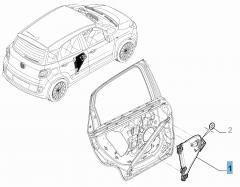 Alzacristallo posteriore destro per Fiat 500L