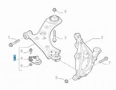 Braccio oscillante destro per sospensione anteriore