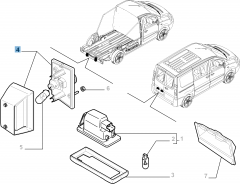 Luce targa destro per Fiat Professional Scudo