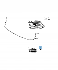 Lampadina proiettore anteriore per Jeep